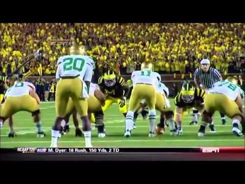 Notre Dame vs Michigan 2011 Highlights