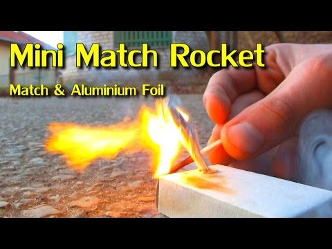 Homemade Mini Match Rocket / Easy Experiment