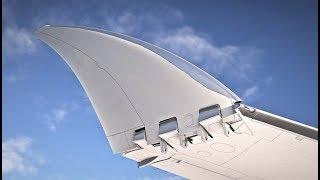 Boeing 777X folding wingtips