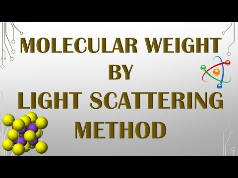 LIGHT SCATTERING METHOD TO DETERMINE MOLECULAR WEIGHT OF POLYMER
