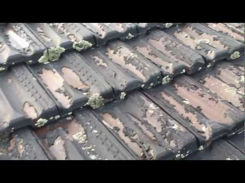 roof restoration Sydney west -  gone bad - failure on terracotta roof tiles