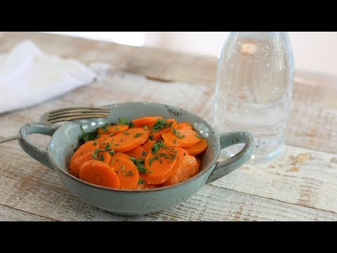 French Vichy Carrots: Carrots Cooked in Sparkling Water