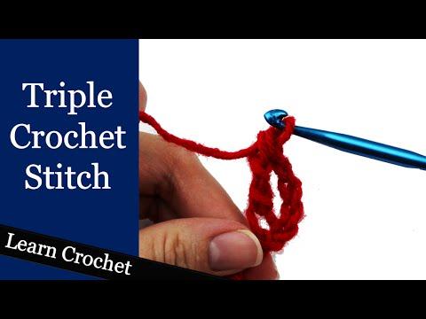 How to Triple/Treble Crochet - Beginner Course: Lesson #11