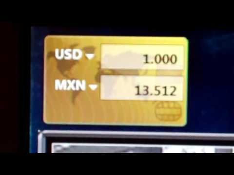 The U.S. Dollar and Mexico Peso Exchange Rate Changes in One Day