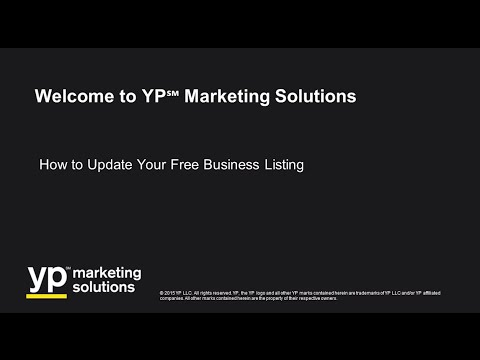 How to Update Your YP℠ Business Listing