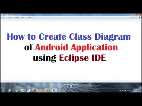 How to create ClassDiagram of Android Application using Eclipse