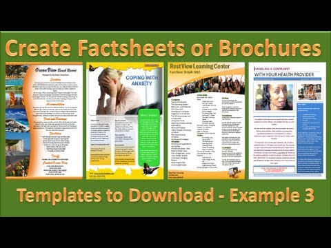 Make Brochure - How to Make Brochures in Microsoft PowerPoint 2010 - Single Page Example 3