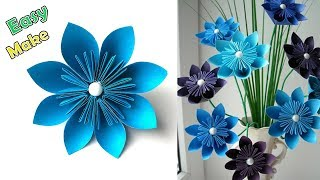 6 easy paper flowers videos ytube how to make easy and simple paper flower home decor easy paper flowers mightylinksfo