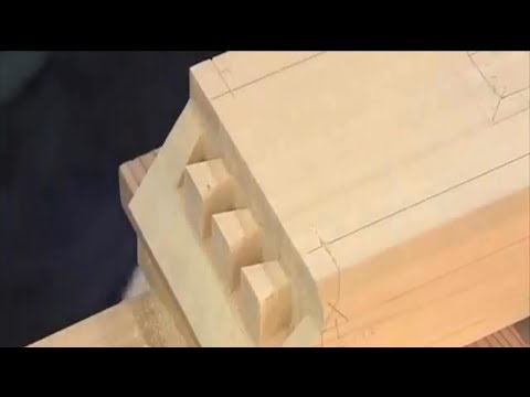 Woodworking, Amazing Skills of Carpenters, The Secret Double-Lapped Dovetail Joint