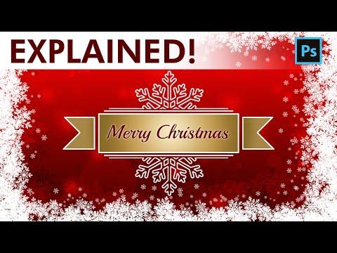 Photoshop Tutorial - Design a Christmas Background