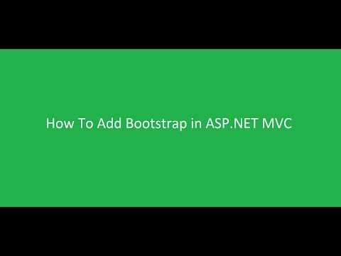 How to configure Bootstrap in asp net mvc framework