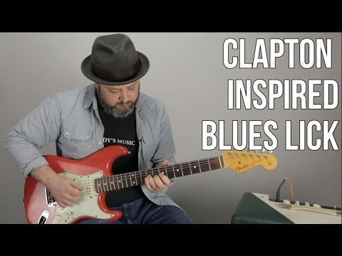 Blues Rock Lead Guitar Lesson - Eric Clapton Inspired Guitar Lick