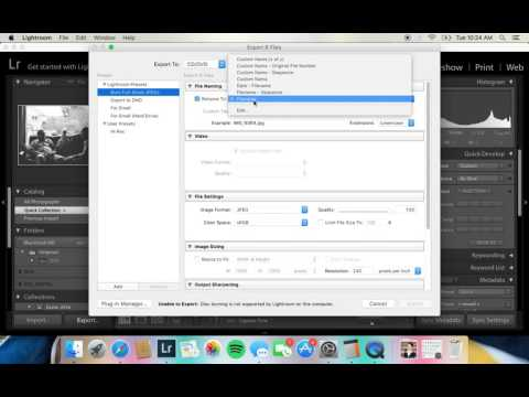 Lightroom Tutorial | Exporting RAW files to JPEG
