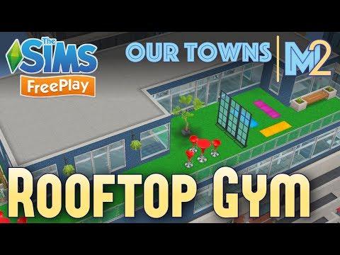 Sims FreePlay - Rooftop Gym (Original Design)