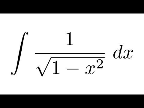 Integral of 1/sqrt(1-x^2) (substitution)