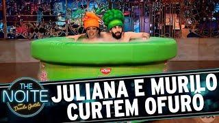 Juliana e Murilo Couto curtem ofurô juntinhos   The Noite (25/05/17)