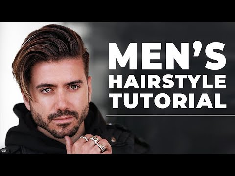 Men's Hairstyle Side Swept Tutorial | Men's Hairstyle 2018 | ALEX COSTA