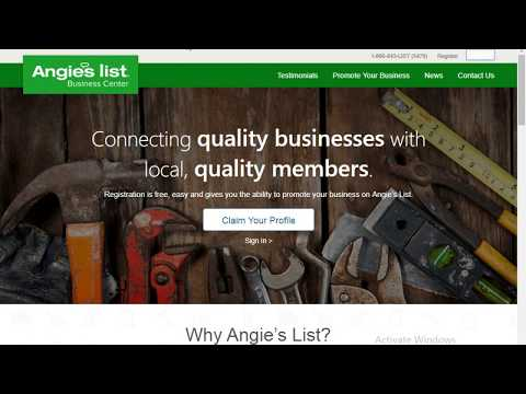 How to get the Angies List live link for your listing?