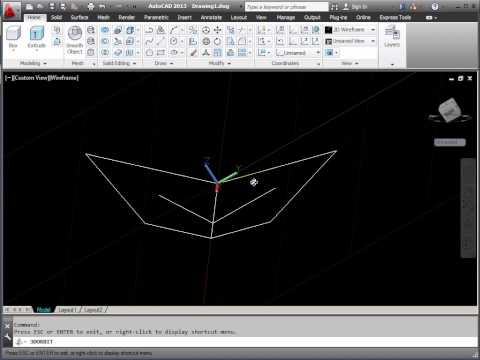AutoCAD 3D - Using 3 Point UCS to Determine Valley Gutter (or Hip) Angles