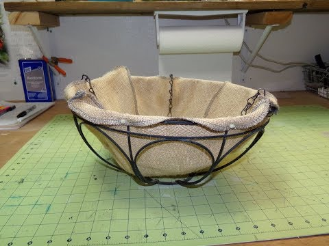 How To Make A Burlap Liner For Hanging Baskets