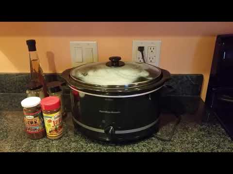 Easy Slow Cooker Boneless Jerk Chicken Thighs Part 1
