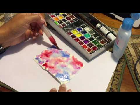 How to Use Rubbing Alcohol with Watercolor