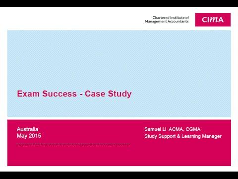 CIMA Professional Case Study Session