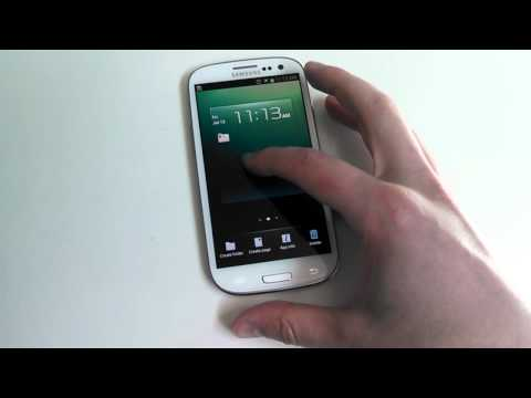 How to: Create folders on the Galaxy S3