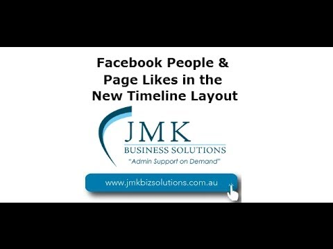 Facebook People & Page Likes on the new Timeline Layout
