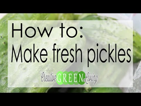 How to Make Cold Process Pickles with Fresh Cucumbers