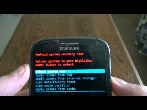 Reset Samsung Galaxy S3 to factory default