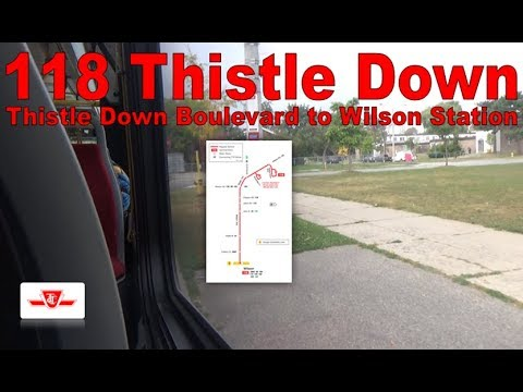 118 Thistle Down - TTC 2015 Nova Bus LFS 8491 (Thistle Down Boulevard to Wilson Station)