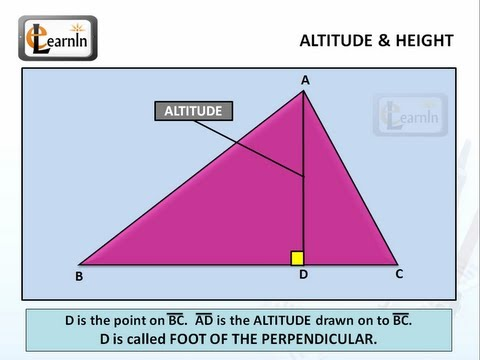 Altitude or height of a Triangle - Mathematics