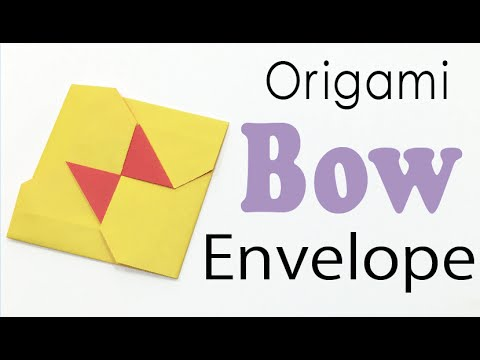Origami Paper Square Bow Envelope Instructions - Origami Kawaii〔#010〕
