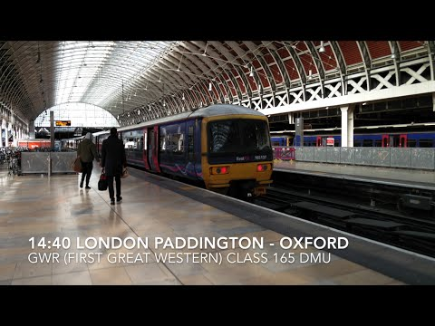 London Paddington to Oxford Rail Journey Aboard GWR Class 165