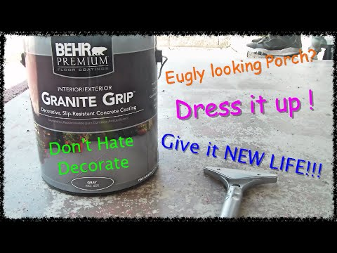 How to paint concrete patio with Behr Granite Grip floor covering