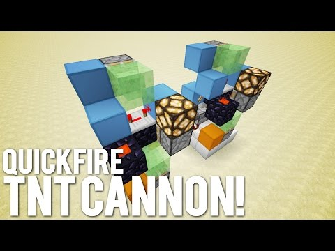 Minecraft: The Quick Fire Cannon [Manual TNT Gun!]