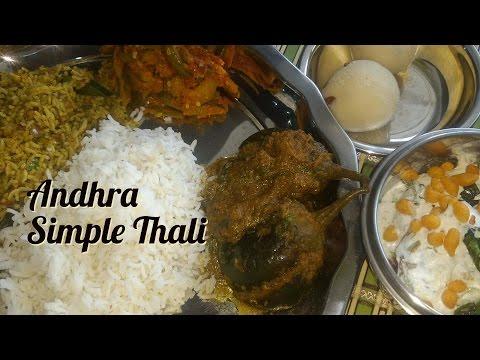 Veg Lunch Menu Recipes- Andhra Special|Andhra Lunch Menu Recipes||simple South Indian Thali