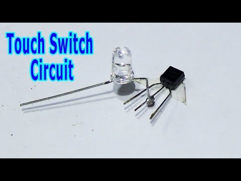 How To Make Simple Touch Switch Circuit (Handmade)