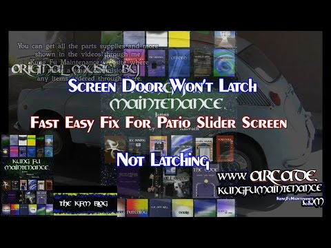 Screen Door Won't Latch Fast Easy Fix For Patio Slider Screen Not Latching