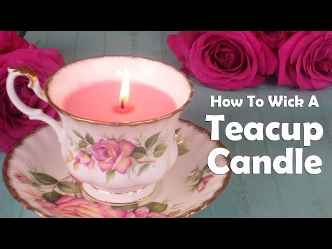 Candle Making 101: How To Wick A Teacup Candle