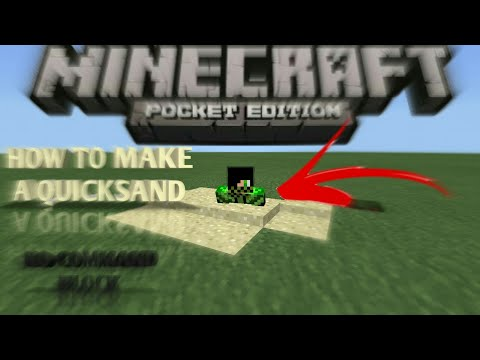 ✔HOW TO MAKE A QUICKSAND ON MCPE (NO COMMANDS)