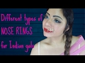 DIMPLE D'SOUZA - Different type of nose rings for Indian gals- BRIDAL EDITIONS chennai youtuber