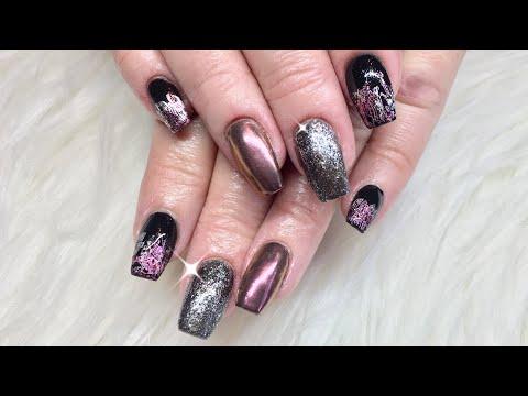 Chrome/ transfer foil/ Acrylic & Gel Nails