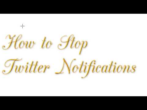 How to Stop Twitter Notifications