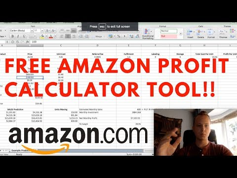 How To Calculate Your EXACT Profit For Your Amazon FBA Product [Amazon Profitability Calculator]