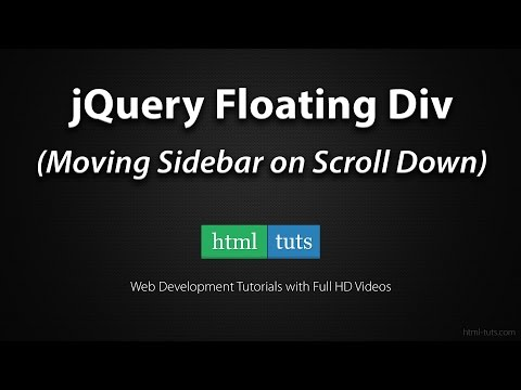 jQuery Floating Div Sidebar on Scroll Down
