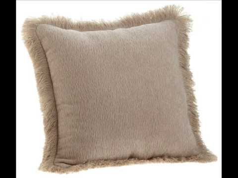 Trieste 18 By Inch Fringe Chenille Pillow Throw Silk Pillows