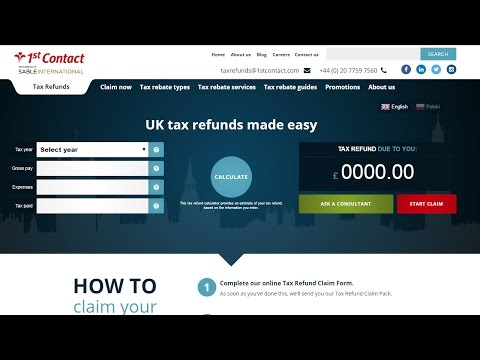 UK tax refund calculator - How to calculate your tax claim