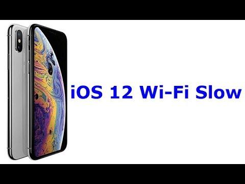 iOS 12 WiFi Slow (Fixed)